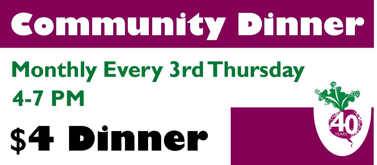 $4 Community Dinners